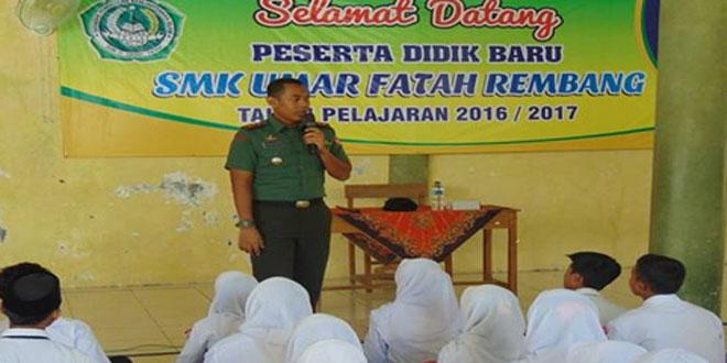 Dandim Rembang Mengisi Materi PLS