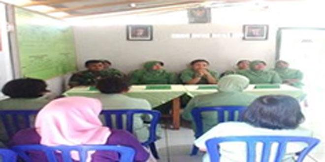 Kunjungan Ketua Persit Cabang XLIX Kodim 0728/Wonogiri