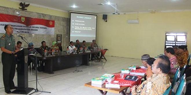 Sosialisasi Penanganan Konflik Secara Terpadu di Wilayah Kab. Sragen
