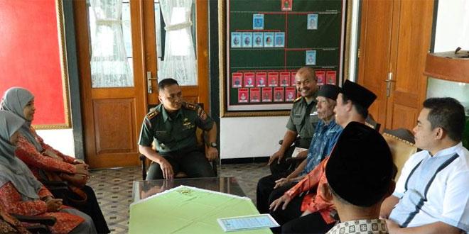 Dandim 0714/Salatiga Menerima Pengurus dari TPA AL Amin Kecamatan Bancak