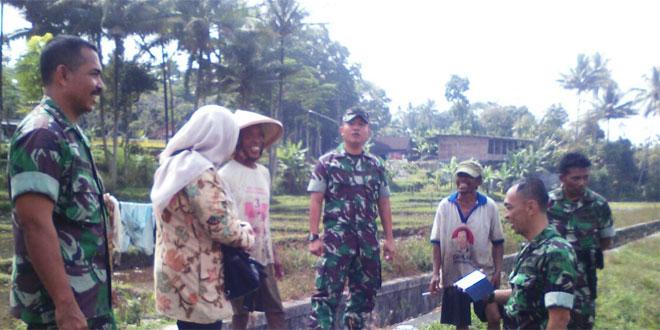 Kasiter Korem 073/Makutarama Meninjau Lahan Pertanian di Wilayah Koramil 08/Suruh