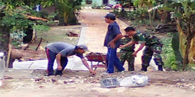 Jalin Silaturahmi Di Wilayah Melalui Kegiatan karya bakti