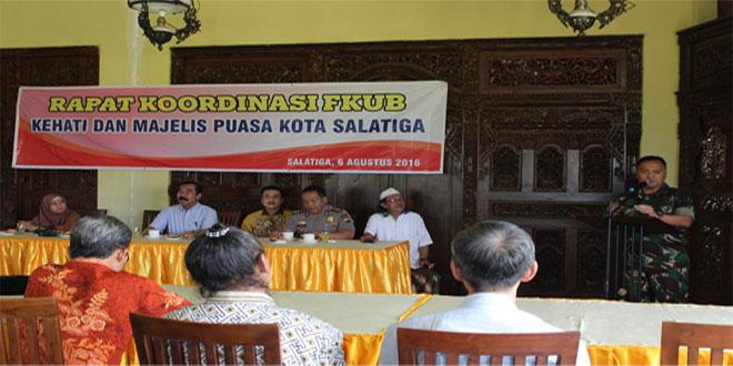 Dandim 0714/Salatiga Menghadiri Rapat FKUB Ke Hati Dan Majelis Puasa Kota Salatiga