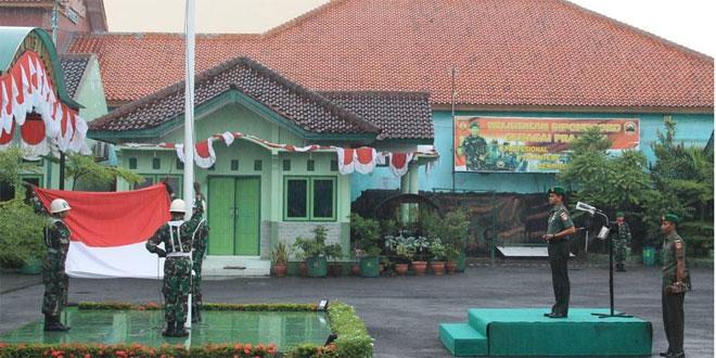Kodim 0713/Brebes Upacara Bendera Merah Putih