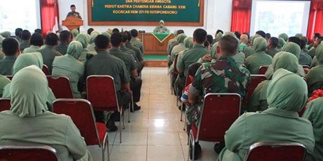 Jamdan Dan Pertemuan Persit KCK Cabang XXIII Dim 0713/Brebes