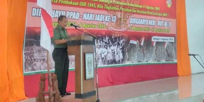 PERINGATAN HUT PERSATUAN PURNAWIRAWAN TNI-AD KE-13 DI WONOGIRI