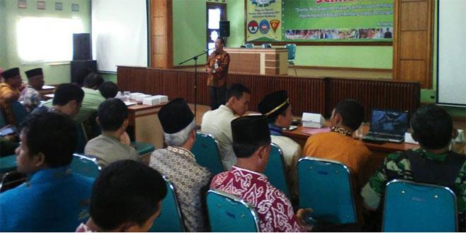 Semiloka Pembangunan Desa Implementasi Kecamatan Lasem Di Hadiri Danramil Lasem