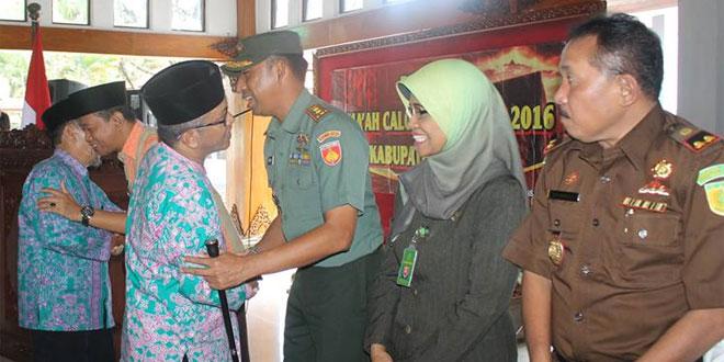Dandim 0725/Sragen Hadiri Pamitan Jamaah Haji Tahun 2016 Kab. Sragen