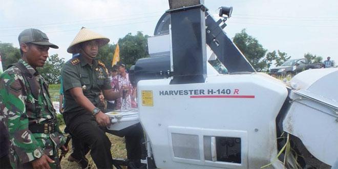 Kodim 0720/Rembang Laksanakan Panen Padi Hibrida di Desa Gunung Sari