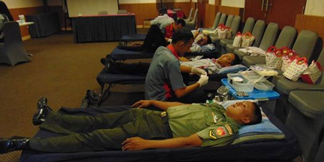 Wujudkan Kepedulian Terhadap Sesama, Kodim 0720 Rembang dan SI Gelar Aksi Donor Darah