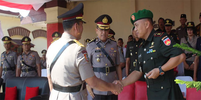 Dandim 0714/Salatiga Menghadiri Upacara Pembukaan Pendidikan Secaba Polisi di Banyubiru