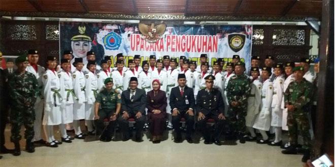 Upacara Pengukuhan Paskibraka Kabupaten Brebes