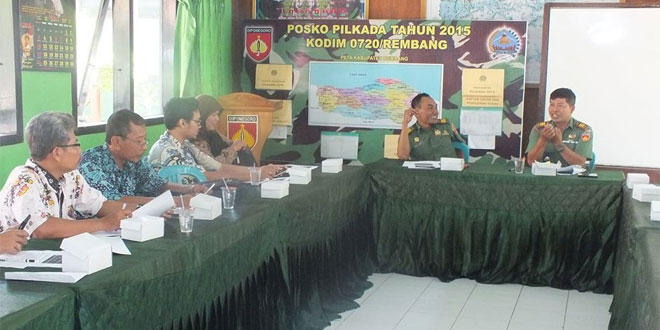 Pasiter Kodim 0720/Rembang Pimpin Technical Meeting Turnamen Sepakbola Dandim 0720/Rembang