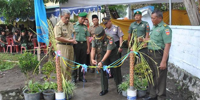 Dandim 0732/Sleman Resmikan Jalan Karbhak Dusun Beteng