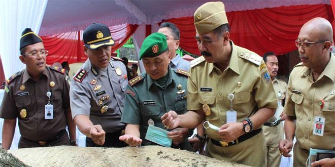 Dandim 0714/Salatiga Menghadiri Acara Pemusnahan Barang Bukti Narkotika di RSU Salatiga