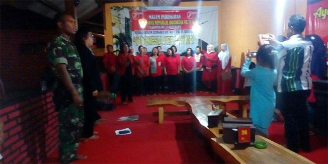 Babinsa Kal. Serengan Koramil 03/Serengan Kodim 0735/Surakarta Menghadiri Malam Tirakatan