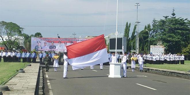 KODIM 0703 CILACAP IKUTI UPACARA PERINGATAN HUT KE-71 KEMERDEKAAN REPUBLIK INDONESIA