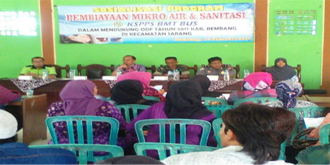 Wujudkan Kecamatan Sarang Bebas BABS Melalui Rakor (ODF)