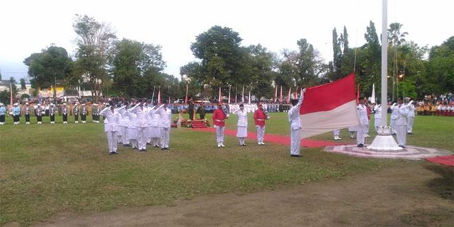 Dandim 0732/Sleman Sebagai Irup Upacara Penurunan Bendera