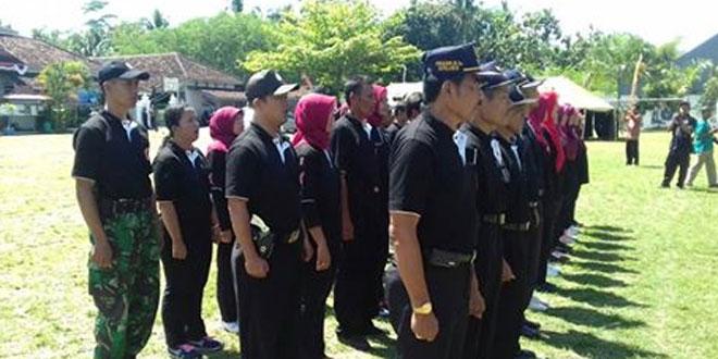Koramil 05/Sleman Hadiri Pengukuhan dan Gladi Lapang Tangguh Bencal