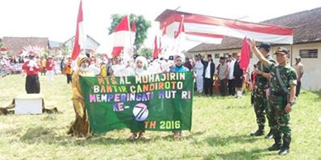 Babinsa Bantir Koramil 05/Candiroto Kawal Pawai Semarak Kemerdekaan RI Ke 71