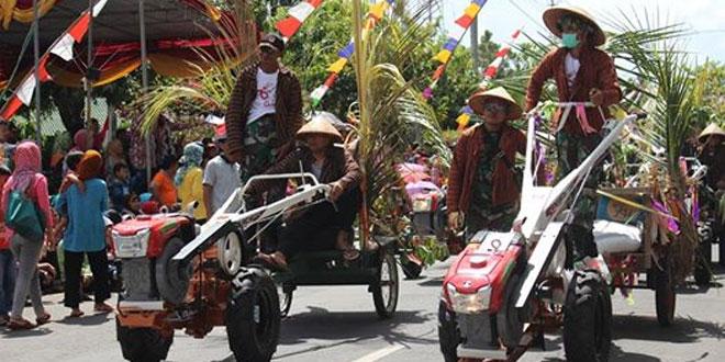 Kodim 0731/Kulonprogo Mengikuti Karnaval Kabupaten Kulonprogo