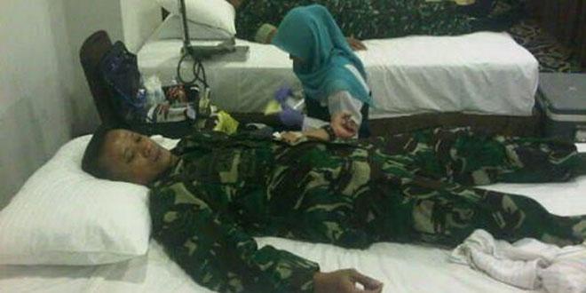 Babinsa Ikut Serta Donor Darah Dalam Rangka HUT RI Ke 71 Tahun di Hotel Cavinton Ngampilan