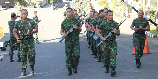Anggota Kodim 0714/Salatiga Melaksanakan Kegiatan Minggu Militer Pembinaan Fisik