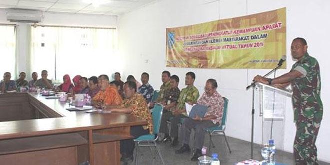 Kasdim 0714/Salatiga Menghadiri dan Menyampaikan Materi Pada Sosialisasi Peran Aparat Pemerintahan Di Pemkot Salatiga