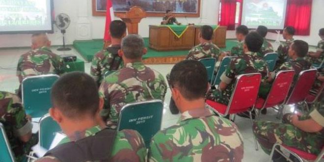 Kodim 0713/Brebes Melaksanakan Pembinaan Kesiapan Prajurit Kewilayahan