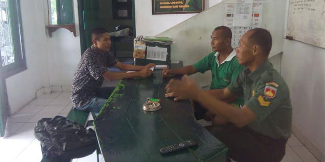 BABINSA TAUNAN KORAMIL 07/UH DIM 0734/YKA MEMBERI PEMBEKALAN KEPADA CALON PRAJURIT TNI AD.