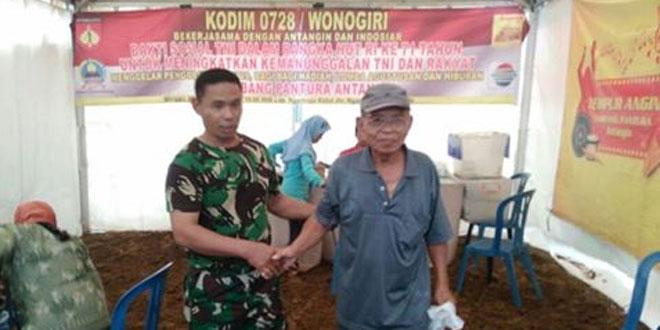 Kodim 0728/Wonogiri Menggelar Bhakti Sosial Dalam Rangka HUT RI Ke-71
