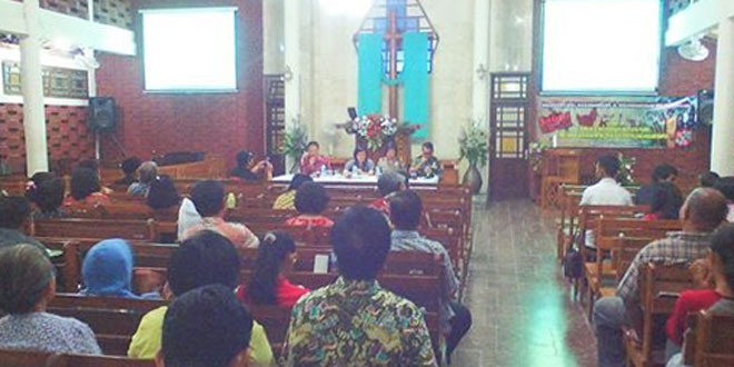 Danramil 10/Berbah Berikan Materi Dalam Sarasehan di Gereja Tanjung