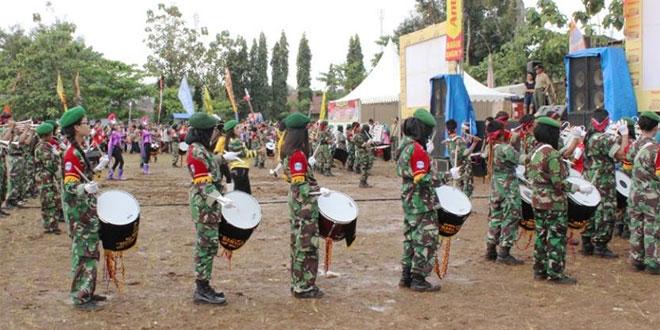 Bhakti Sosial Kodim 0728/Wonogiri Dimeriahkan Marching Band
