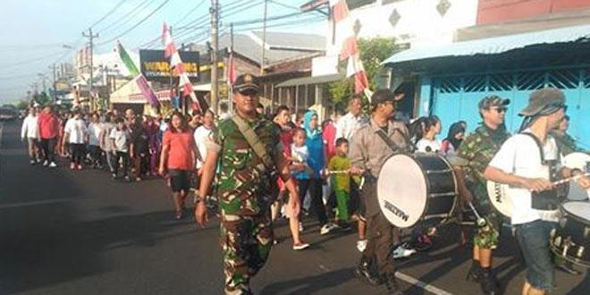 Jalan Sehat dan Senam Massal HUT Kemerdekaan RI Ke-71