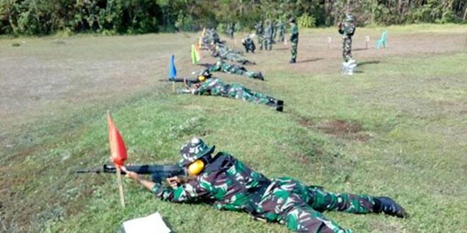 Tingkatkan Kemampuan Menembak, Kodim 0732/Sleman Laksanakan Latihan Menembak