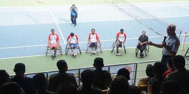 Sosialisasi Tenis Kursi Roda Bagi Penyandang Disabilitas Jajaran Korem 074/Warastratama