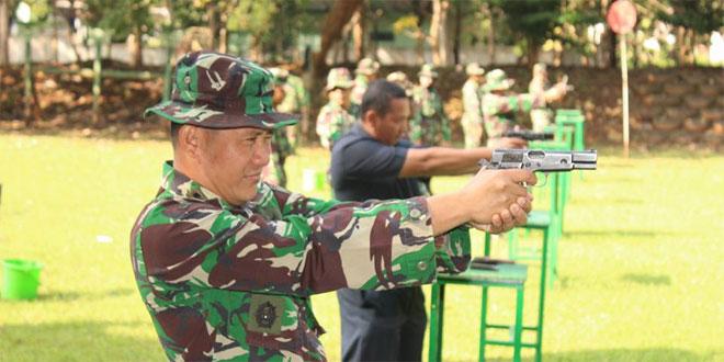 Kodim 0733-BS/Semarang Laksanakan Latihan Menembak