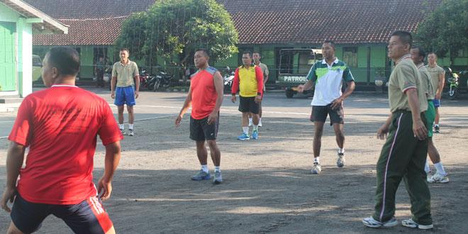 Kodim 0705/Magelang Bangun Kebersamaan Dengan Olahraga Bersama