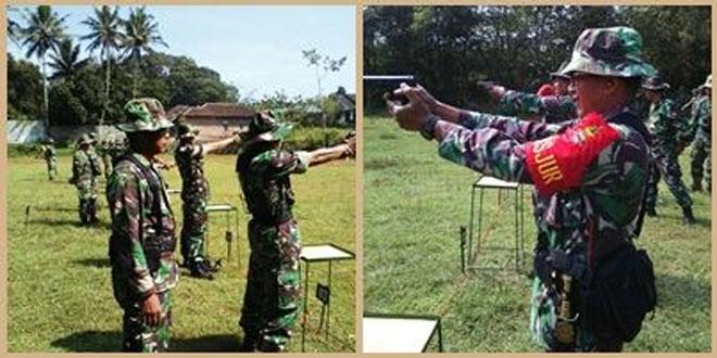 Koramil 03/Parakan Laksanakan Latihan Menembak Senjata Ringan