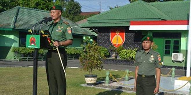 Kodim 0712/Tegal Melaksanakan Upacara Bendera