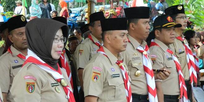 Dandim 0714/Salatiga Menghadiri Acara Estafet Tunas Kelapa Kwarcab Kota Salatiga