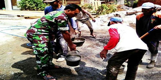 Pelihara Budaya Gotong Royong Demi Terwujudnya Kemanunggalan TNI dan Rakyat