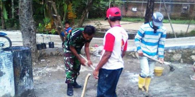 TNI AD Motori Rakyat Galakkan Gotong Royong