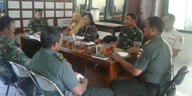 Koramil 07/Ngenplak Rakor Bersama PLKB Kecamatan