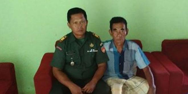 Komsos Danramil 07/Ngemplak ke Sesepuh TNI
