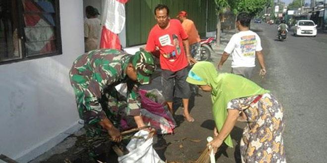 Kegiatan Kerja Bakti Koramil 02/Banjarsari