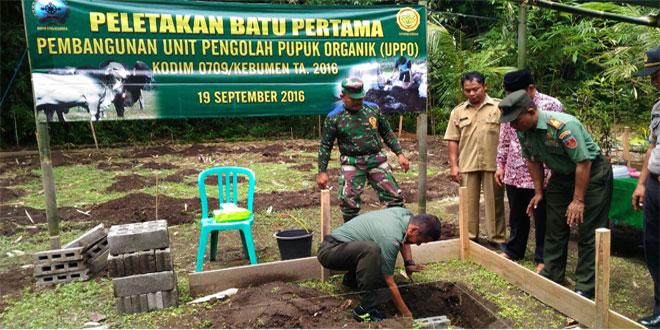 Peletakan Batu Pertama Pembangunan UPPO Kodim 0709/Kebumen