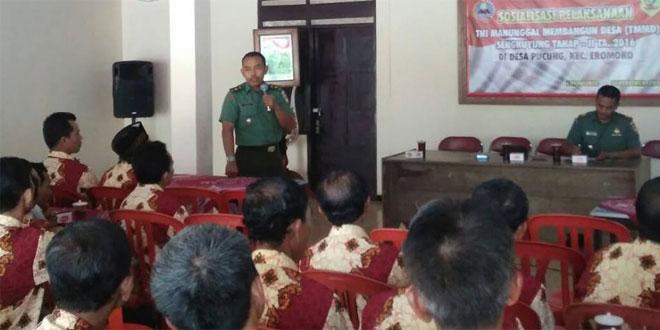 SOSIALISASI TNI MANUNGGAL MEMBANGUN DESA SKY-II TA.2016 DIDESA PUCUNG KEC EROMOKO WONOGIRI