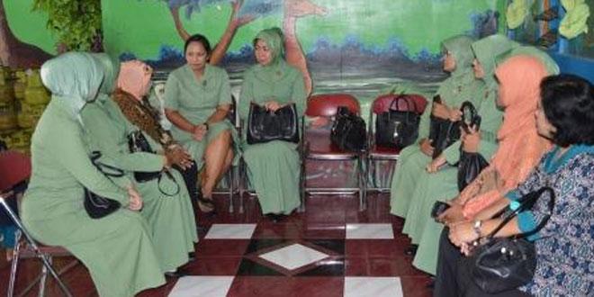 Kunjungan Ibu Paulina Simanjuntak di wilayah Kodim 0723/Klaten